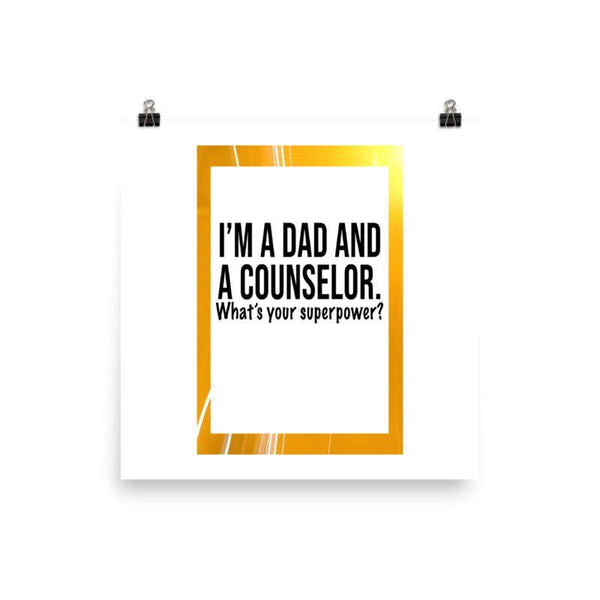 Dad And Counselor Poster - Original Family Shop