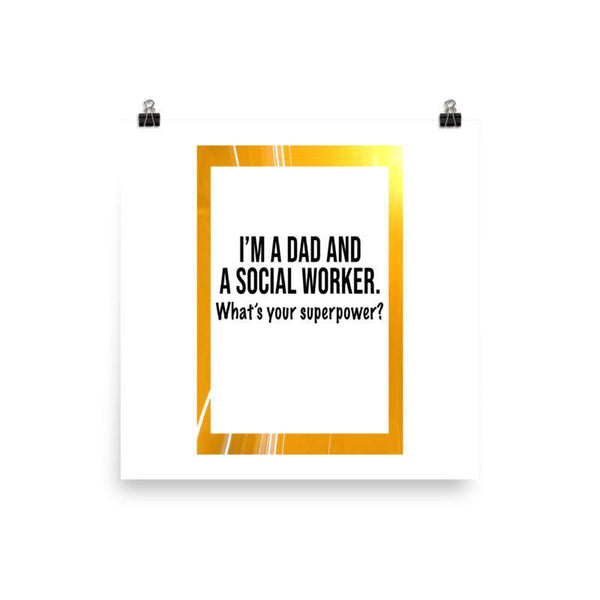 Dad And Social Worker Poster - Original Family Shop