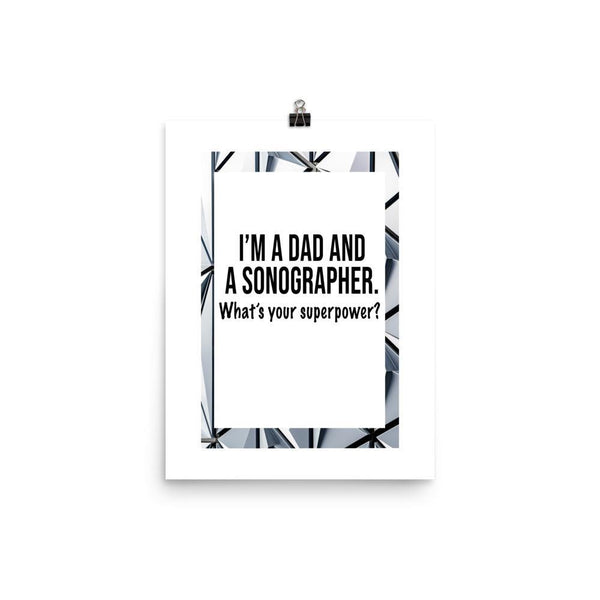 Dad And Sonographer Poster - Original Family Shop