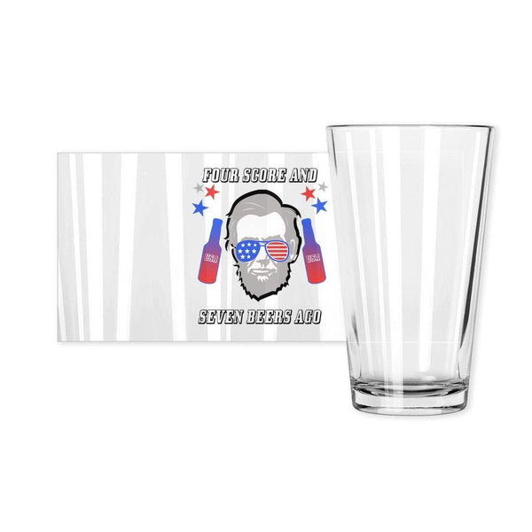 Four Score & Seven Beers Ago Pint Glass - Original Family Shop