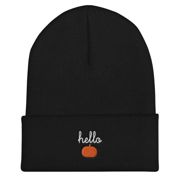 Hello Pumpkin Cuffed Beanie - Original Family Shop