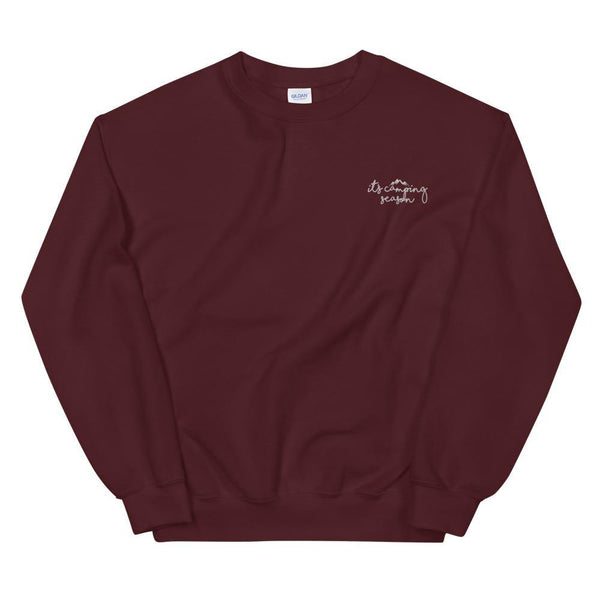 It's Camping Season Embroidered Sweatshirt - Original Family Shop