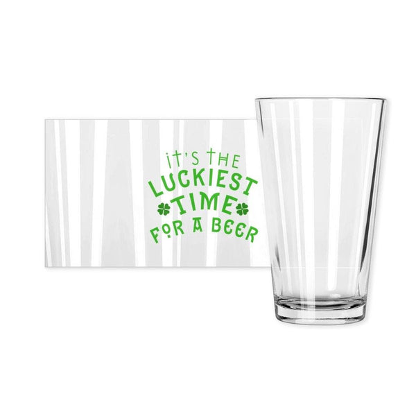 Luckiest Beer Pint Glass - Original Family Shop