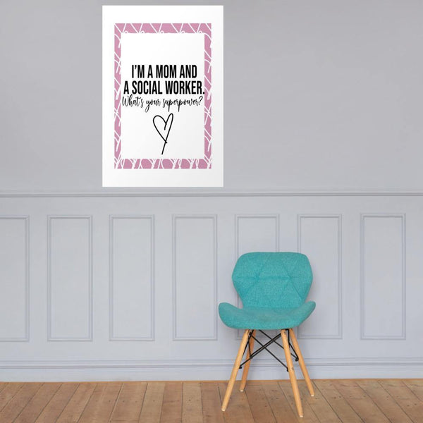 Mom And Social Worker Poster - Original Family Shop