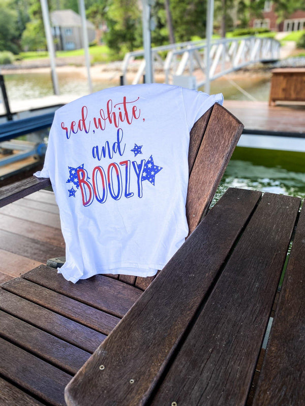 Red, White, And Boozy T-Shirt - Original Family Shop