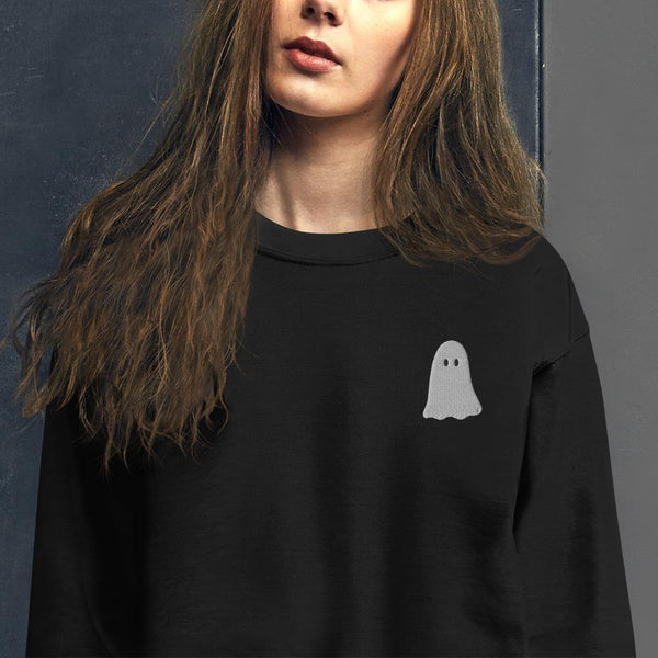Smiling Ghost Embroidered Unisex Sweatshirt - Original Family Shop