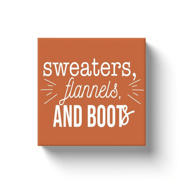 Sweaters, Flannels, And Boots Canvas Art - Original Family Shop