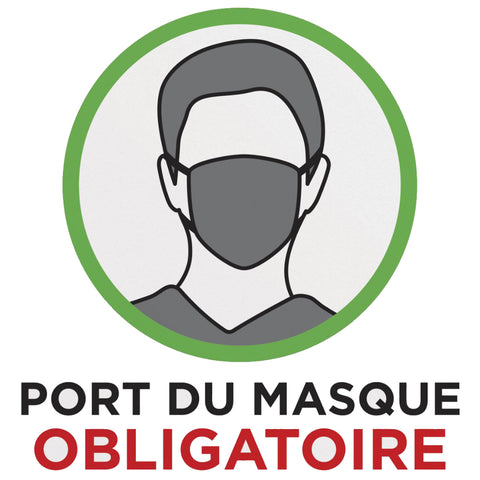 Autocollants de prévention: PORT DU MASQUE OBLIGATOIRE - StopGerms