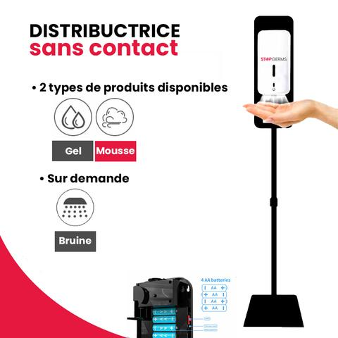 Distributrice de désinfectant sans contact pour mousse de 1000ml