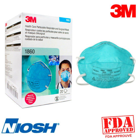 Masque N95-1860 3M Paquet de 20 - StopGerms