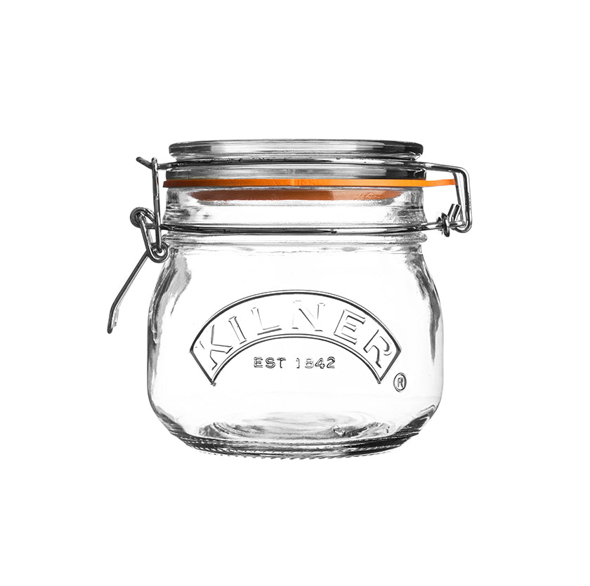 Round Clip Top Jar, 500ml