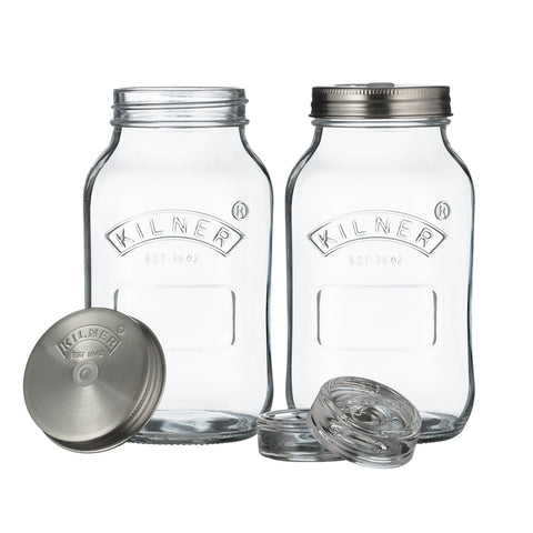 Kilner Fermentation Kit 1L - Set of 2