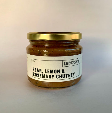 Pear, Lemon & Rosemary Chutney