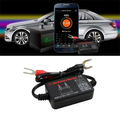12V Car Battery Monitor via bluetooth APP Voltage Meter Tester w/ auto Alarm - iPower