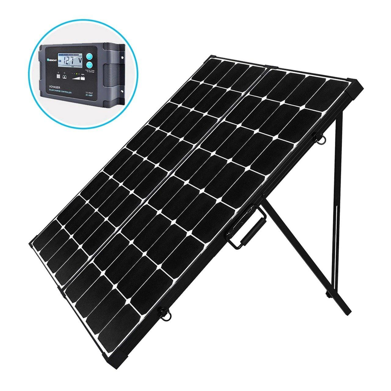 250 Watt Folding Mono Crystalline Solar Suitcase Kit 12v or 24v - iPower