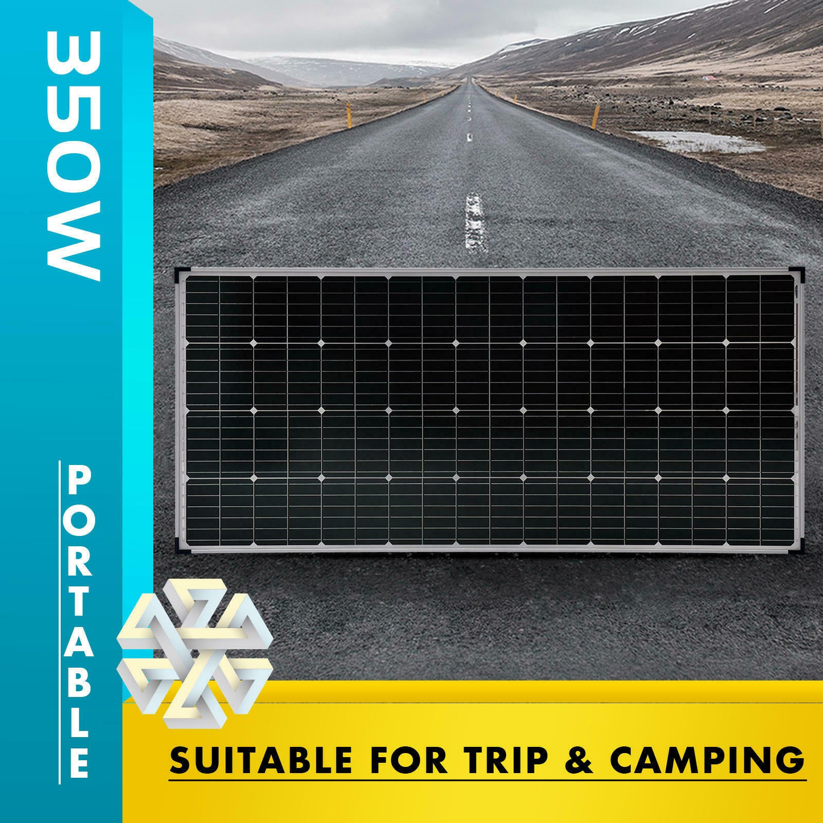350 Watt 12 Volt Mono Crystalline Solar Power Panel Off Grid Caravan Camping