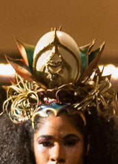 Rainbow Golden Lotus Crown