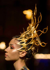 Golden Fire Helix Crown