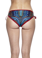 Sunset Reflection Bikini Bottom -  Dark Red