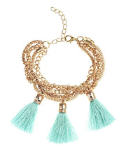 Load image into Gallery viewer, Tassel Bracelet - Blue - Belladeem