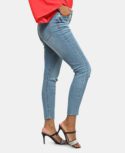 Distressed Jeans - Blue - Belladeem