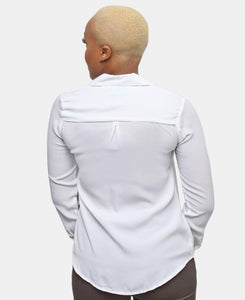 Long Sleeve Blouse - White - Belladeem
