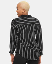 Load image into Gallery viewer, Long Sleeve Blouse - Black-White - Belladeem