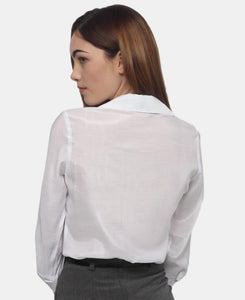3/4 Sleeve Blouse - White - Belladeem
