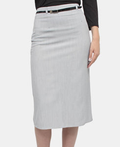 Pencil Skirt - Grey - Belladeem