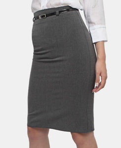 Pencil Skirt - Charcoal - Belladeem