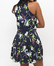 Load image into Gallery viewer, Floral Dress - Navy - Belladeem
