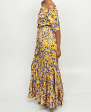 Load image into Gallery viewer, Off Shoulder Maxi Dress - Mustard