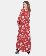 Load image into Gallery viewer, Long Sleeve Maxi Dress - Red - Belladeem