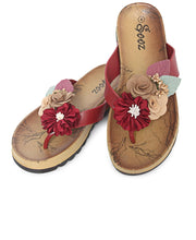 Load image into Gallery viewer, Casual Sandals - Burgundy - Belladeem