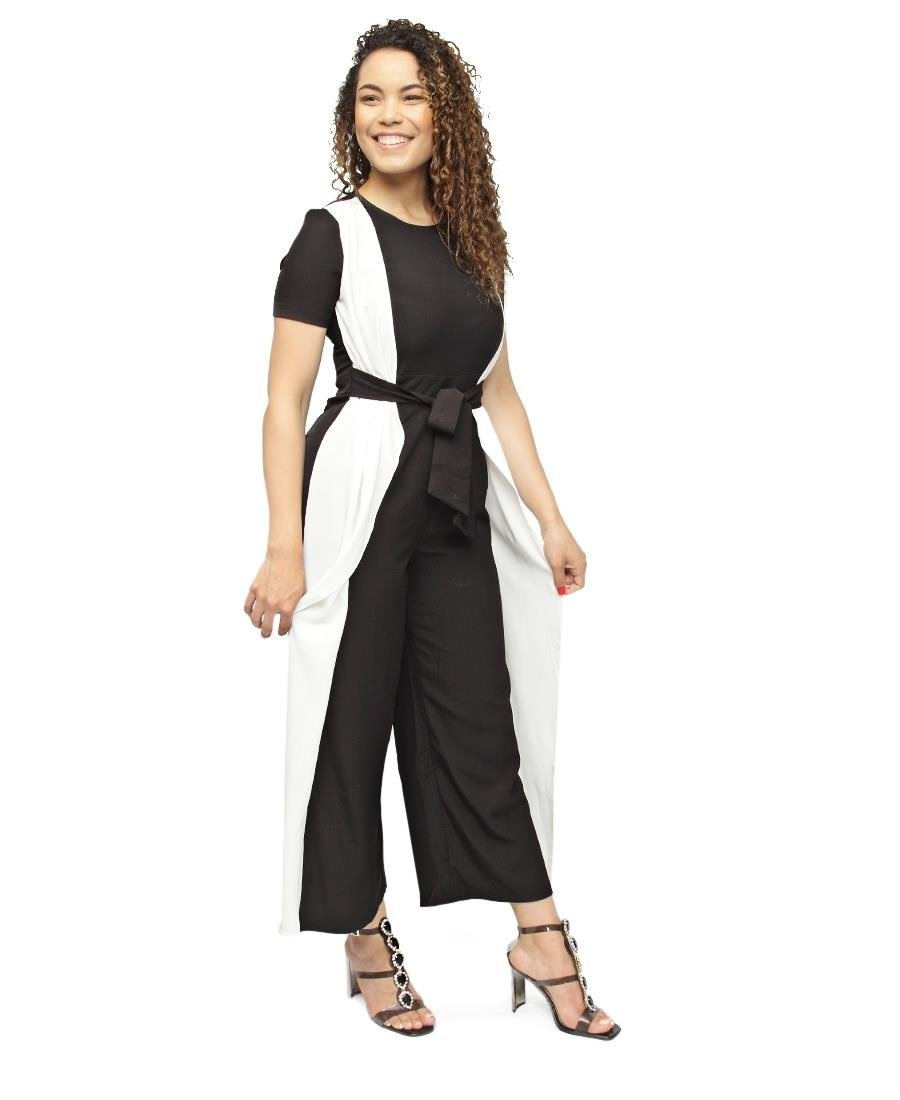 Jumpsuit - Black-White