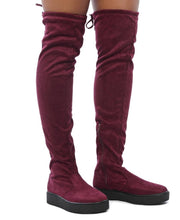 Load image into Gallery viewer, Micro Fibre Boots - Burgundy - Belladeem