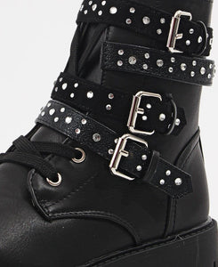 Girls Boots - Black - Belladeem