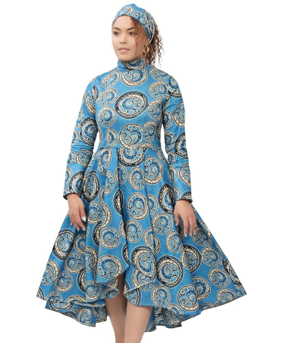Ethnic Dress - Blue