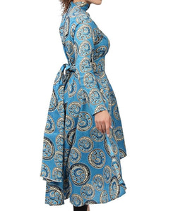 Ethnic Dress - Blue - Belladeem