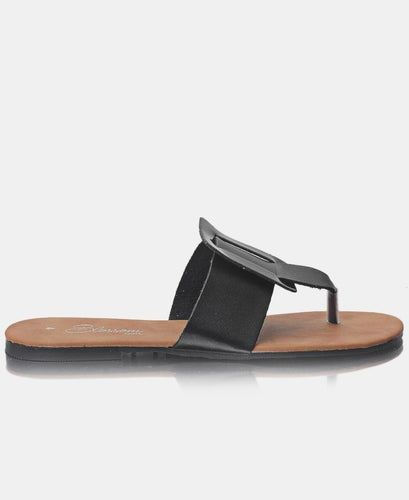 Slip On Sandals - Black - Belladeem