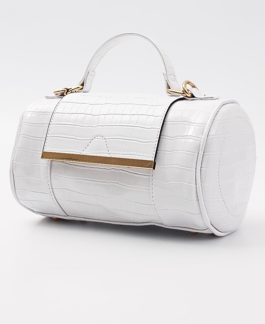 Mini Barrel Bag - White