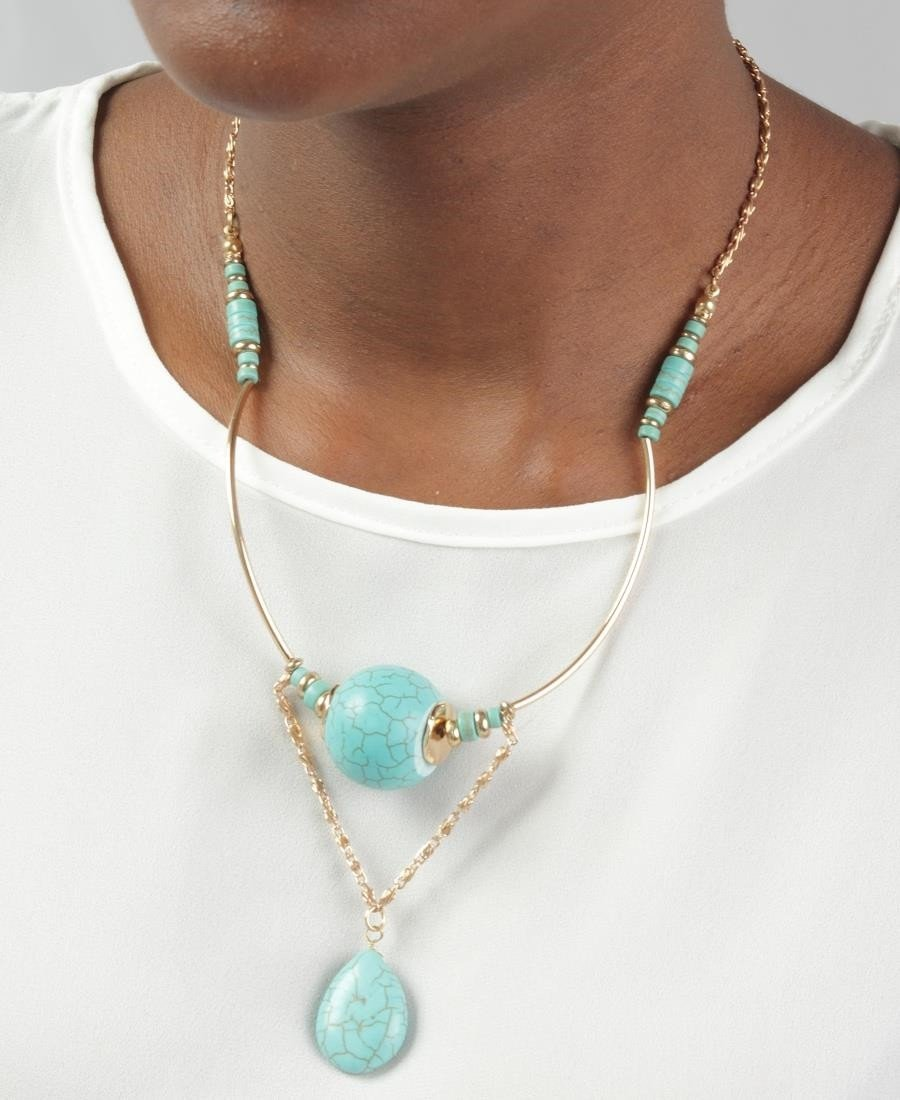 Amazonite Chain - Gold - Belladeem