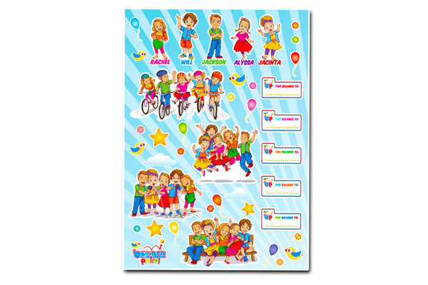 Bounce Patrol Stickers - Pack of 2 A4 Sheets