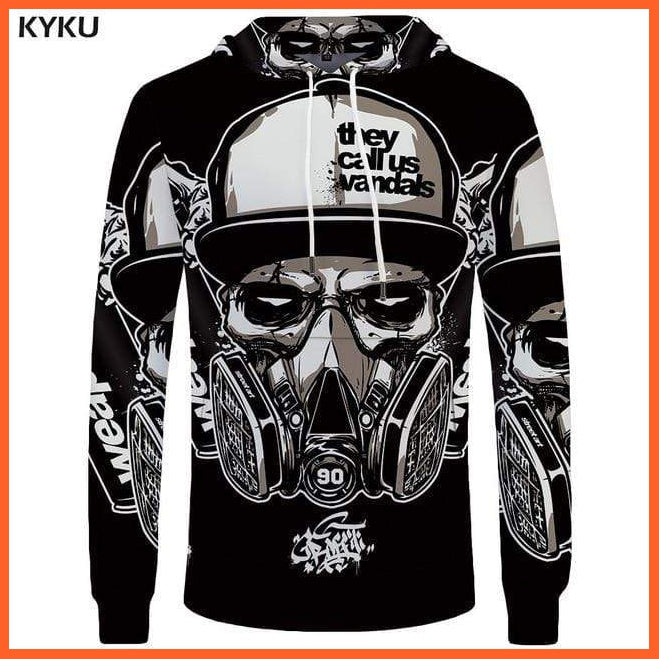whatagift.com.au 3d hoodies 03 / S Skull Hoodie for Men