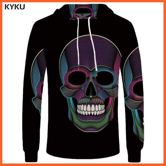 whatagift.com.au 3d hoodies 04 / S Skull Hoodie for Men