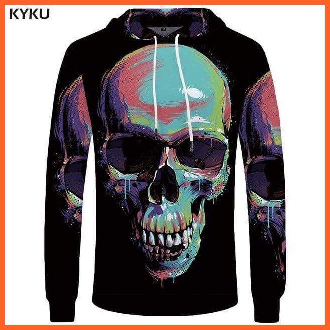 whatagift.com.au 3d hoodies 05 / S Skull Hoodie for Men