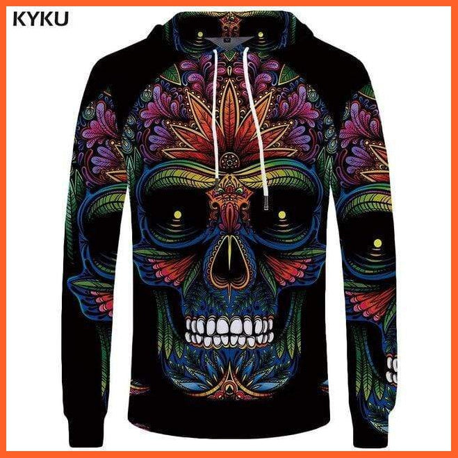 whatagift.com.au 3d hoodies 06 / S Skull Hoodie for Men