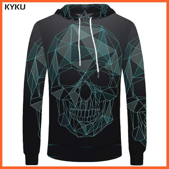 whatagift.com.au 3d hoodies 09 / S Skull Hoodie for Men