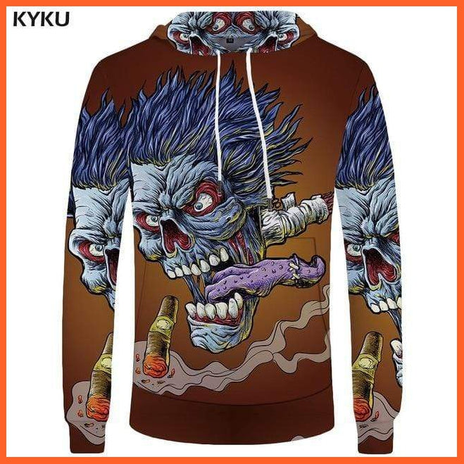 whatagift.com.au 3d hoodies 10 / S Skull Hoodie for Men