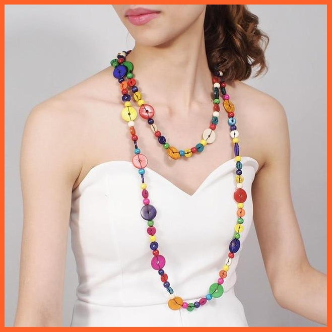 whatagift.com.au 4919Multi Multi Color Woods Necklaces For Women